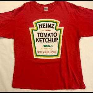 Vintage Heinz ketchup graphic T Shirt Red size XL
